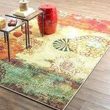 red barrel studio outdoor rug orange area beige green reviews all modern