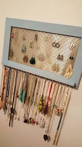 diy jewelry storage framed organizer do it yourself crafts and projects for organizing