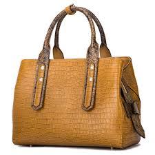 genuine leather handbags for women luxury designer handbags top handle bags embossed crocodile cowhide handbags com