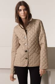 Lyst - Burberry brit Diamond Quilted Jacket in Natural & Gallery Adamdwight.com