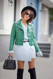 fall outfit ideas biker jacket outfit mango biker jacket how to wear green