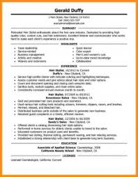 Hairstylist Resume Sample Hair Stylist Skills Of Apprentice ...