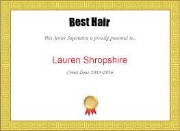 Superlative Certificate Senior Superlative