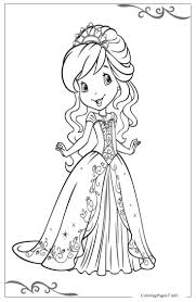 Strawberry Shortcake Printable Coloring Pages For