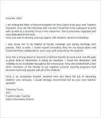 18 Letter Of Recommendation For Teacher Samples Pdf Doc