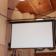 diy portable projector screen screen boom allows for the installation of a motorized projection screen in