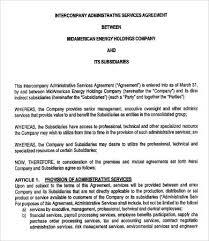 Sample Service Agreements Custom Administrative Services Agreement Template 44 Free Sample Example