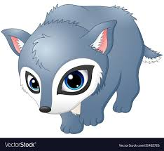 cute baby wolf anime. Beautiful Anime Cute Baby Wolf Walking Vector Image Intended Baby Wolf Anime E