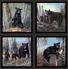 6900-black, North American Wildlife, Fabric Collections ... & Honey Tree - Black Bear Explorers - Dk Gray - 24 x 44 PANEL Quilt fabric  online store Largest Selection, Fast Shipping, Best Images, Ship Worldwide Adamdwight.com
