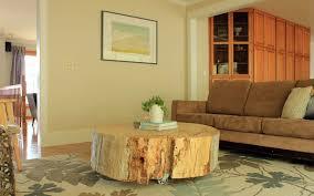 Tree Stump Seats Breathtaking Brown Tree Stump Coffee Table Cream Rattan Sofa Frame