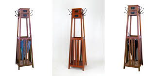 Free Standing Coat Rack With Shelf Unusual Furniture Design A MissionStyle Freestanding Coat Rack 65