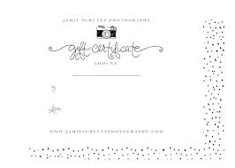 Gift Card Word Template Gift Certificate Template Word Black And White Photography