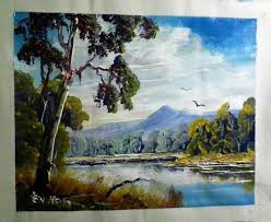acrylic landscape painting for