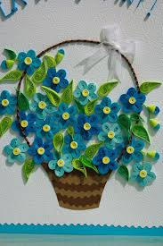Paper Quilling Flower Baskets Quilled Flower Basket Paper Trail Pinterest Quilling Quilling