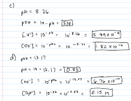 Ph And Poh Chemistry Video Clutch Prep