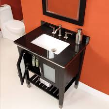 30 inch black bathroom vanity. black solid wood 30 inch bathroom vanity under small framed mirror near toilet