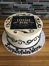 Cake Designs For Mens 70th Birthday Vintage Dude Birthday Cake Scroll Work 90th Birthday Cakes