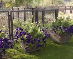planter box yard decor wire fence