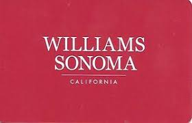 gift card logo red williams sonoma