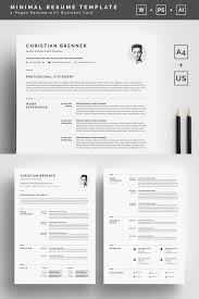 Clean Resume Template Clean with Cover Letter Resume Template 24 2