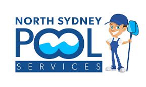 pool service logo. North Sydney Pool Servces 1 300 044 127 Service Logo