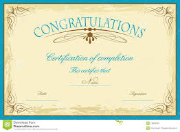 Congratulations Certificates Templates Certificate Template Stock Vector Illustration Of Education