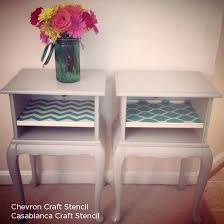chevron painted furniture. Craft Stencils Like The Chevron Or Casablanca Stencil Can Add Perfect Touch To Painted Furniture