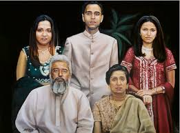 portrait painting family portrait from india by antonio molina