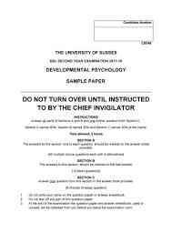 C8546 Developmental Psychology 2017 18 Sample With Answers