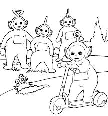 Disegno Di Teletubbies Al Parco Da Colorare Per Bambini