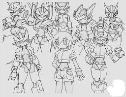 Megaman ZX Kids Coloring Pages