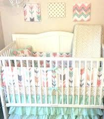 c and grey nursery bedding mint gray baby crib set peach elephant nurser