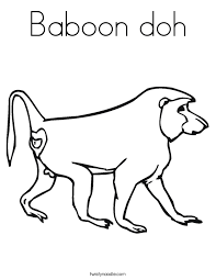 Small Picture Baboon doh Coloring Page Twisty Noodle