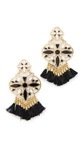 kate spade new york moroccan tile chandelier earrings black women accessories jewelry kate spade new