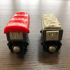 troublesome trucks from fisher thomas the train wooden railway series babies kids toys walkers on carou