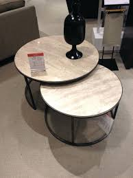 inspiring round nesting coffee table tables stainless steel glass gilesand