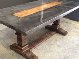 concrete and wood furniture. Regular Concrete With Dark Dye Added And A Wooden Inlay Resin Top Hand Carved Wood Furniture O