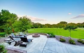 concrete patio designs with fire pit. Various Options Of Concrete Patio Designs : With Fire Pit T