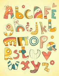 Letters In Design Alphabet Design In Fun Doodle Style Letters A Z Illustration