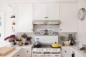 white tile kitchen countertops. (Image Credit: Design Sponge). I Think The Tile Countertops White Kitchen D