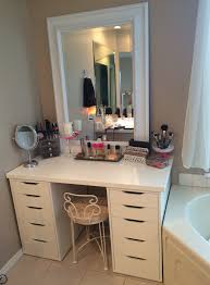 fascinating white curtain and stunning mirror plus awesome white makeup vanities ikea
