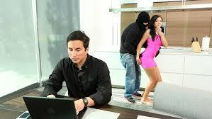 Wife get fuck by burglar