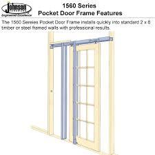 johnson hardware 1560 pocket door frame johnsonhardware com sliding folding pocket door hardware