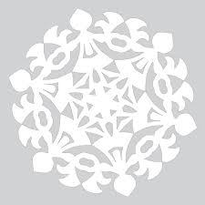 Blank Snowflake Template Blank Template To Draw A Pattern For Paper Snowflake Free