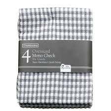 grey kitchen towels mono check oversized tea towels grey kitchen intended for gray kitchen towels gray