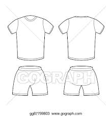 Shorts Design Template Eps Vector T Shirt And Shorts Template For Design Sample
