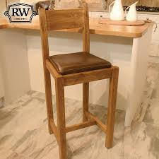 fitzwilliam oak bar stool with back