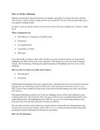 How To Type Resume Templates Up Resumes In Word With The Accents