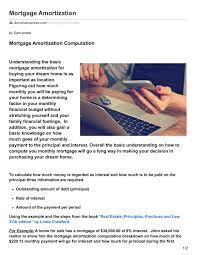 Mortgage Amortization Computation By Sam Arnaiz Issuu