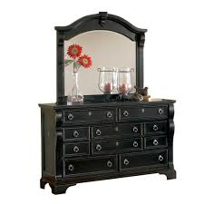 distressed mirrored furniture. American Woodcrafters Heirloom 10-Drawer Distressed Black Dresser With Mirror-2900-TDLM - The Home Depot Mirrored Furniture